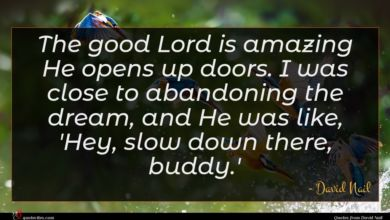 Photo of David Nail quote : The good Lord is …