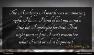 Cuba Gooding, Jr. quote : The Academy Awards was ...
