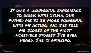 Lukas Haas quote : It was a wonderful ...