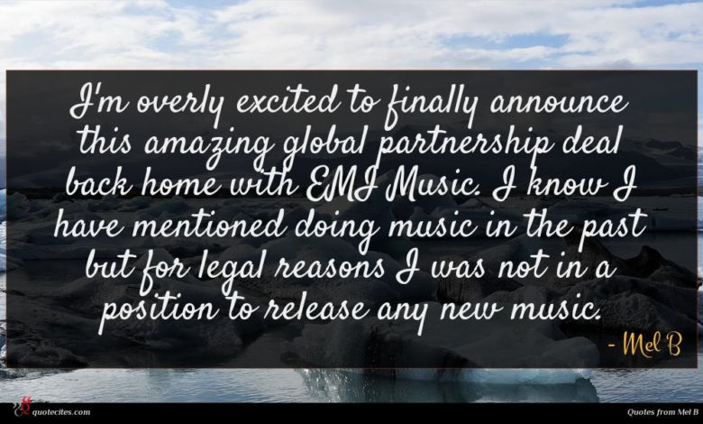 I'm overly excited to finally announce this amazing global partnership deal back home with EMI Music. I know I have mentioned doing music in the past but for legal reasons I was not in a position to release any new music.