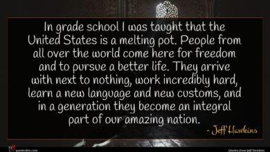 Photo of Jeff Hawkins quote : In grade school I …