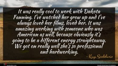Photo of Kaya Scodelario quote : It was really cool …