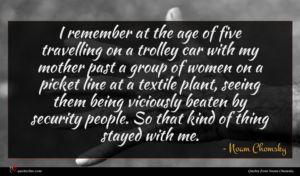 Noam Chomsky quote : I remember at the ...