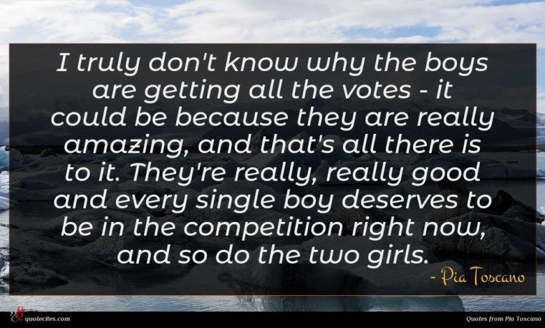 I truly don't know why the boys are getting all the votes - it could be because they are really amazing, and that's all there is to it. They're really, really good and every single boy deserves to be in the competition right now, and so do the two girls.