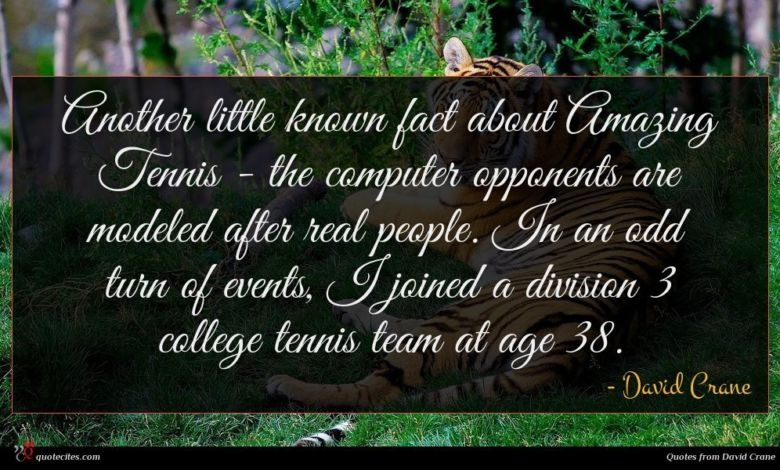 Another little known fact about Amazing Tennis - the computer opponents are modeled after real people. In an odd turn of events, I joined a division 3 college tennis team at age 38.