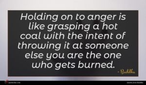 Buddha quote : Holding on to anger ...