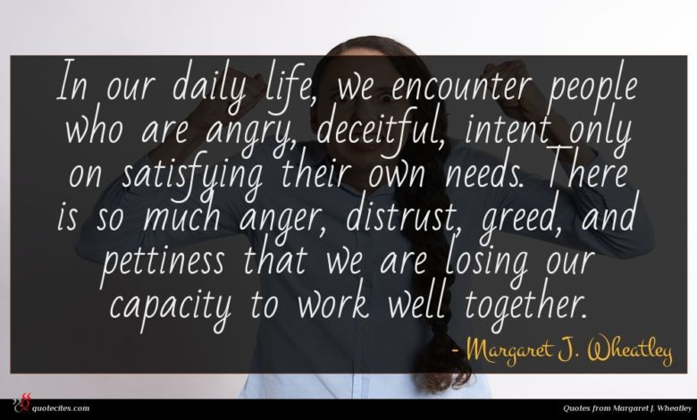 In our daily life, we encounter people who are angry, deceitful, intent only on satisfying their own needs. There is so much anger, distrust, greed, and pettiness that we are losing our capacity to work well together.