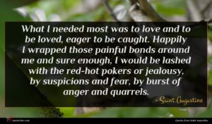 Saint Augustine quote : What I needed most ...