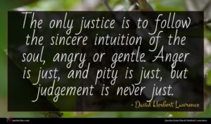David Herbert Lawrence quote : The only justice is ...