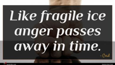 Photo of Ovid quote : Like fragile ice anger …