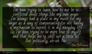 Ani DiFranco quote : I've been trying to ...