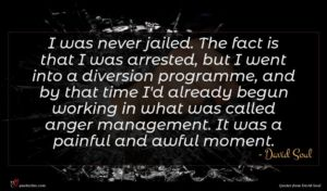 David Soul quote : I was never jailed ...