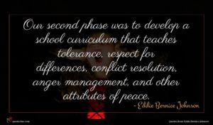 Eddie Bernice Johnson quote : Our second phase was ...