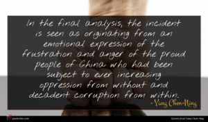 Yang Chen-Ning quote : In the final analysis ...
