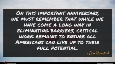 Photo of Jim Ramstad quote : On this important anniversary …