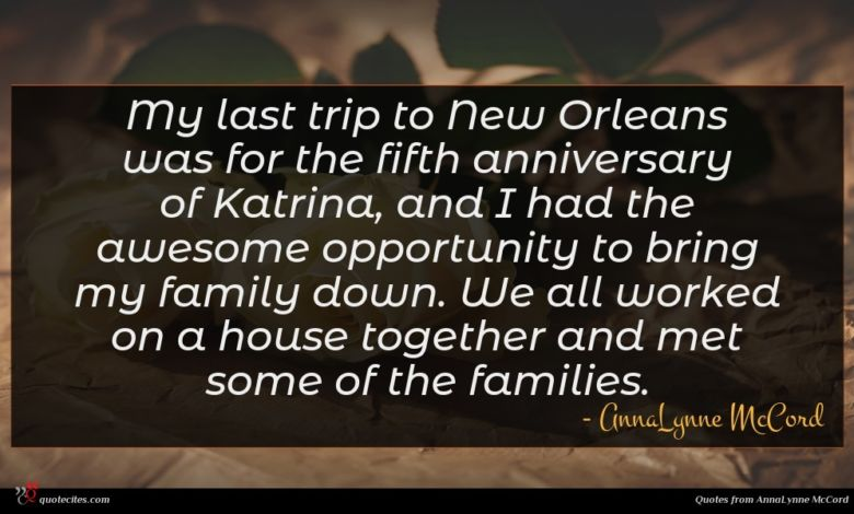 My last trip to New Orleans was for the fifth anniversary of Katrina, and I had the awesome opportunity to bring my family down. We all worked on a house together and met some of the families.