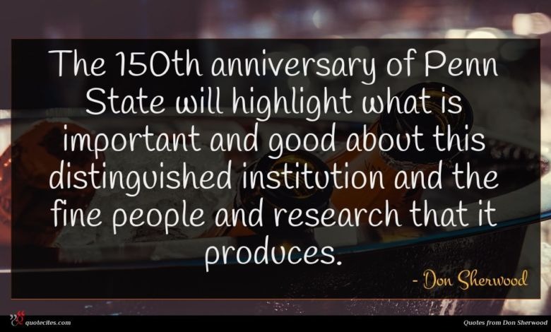 Photo of Don Sherwood quote : The th anniversary of …