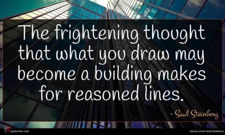 The frightening thought that what you draw may become a building makes for reasoned lines.
