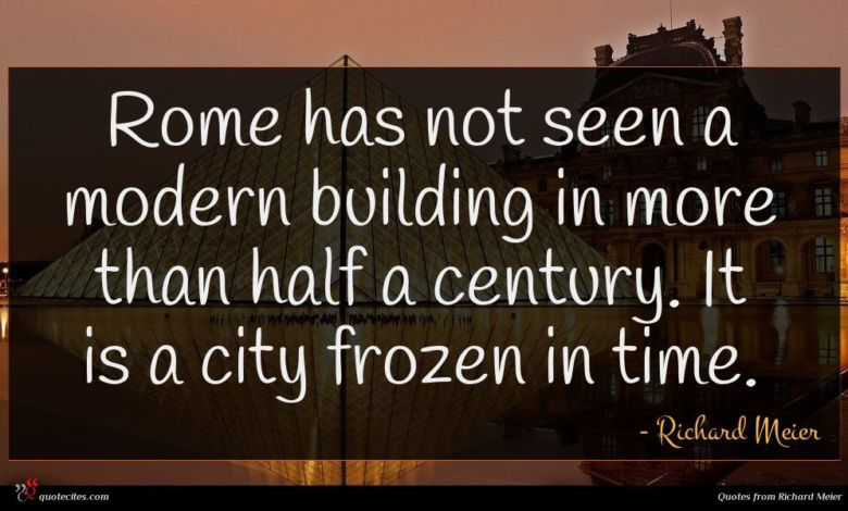 Rome has not seen a modern building in more than half a century. It is a city frozen in time.