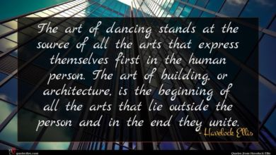 Photo of Havelock Ellis quote : The art of dancing …