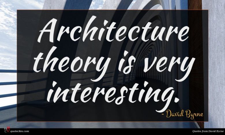 Architecture theory is very interesting.