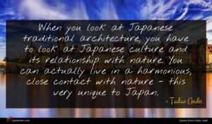Tadao Ando quote : When you look at ...