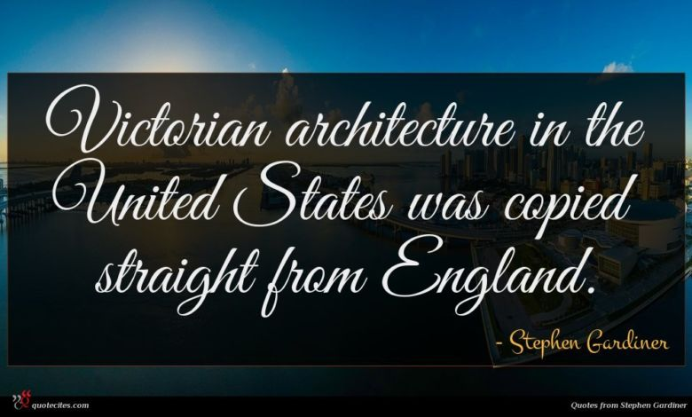 Victorian architecture in the United States was copied straight from England.