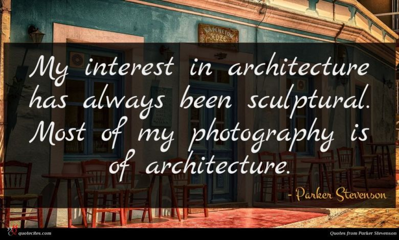 My interest in architecture has always been sculptural. Most of my photography is of architecture.
