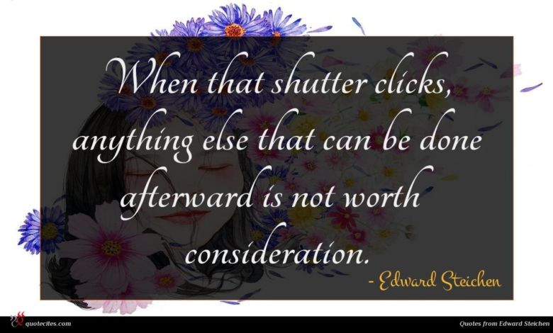 When that shutter clicks, anything else that can be done afterward is not worth consideration.