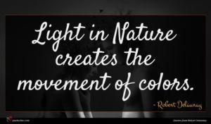 Robert Delaunay quote : Light in Nature creates ...