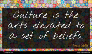 Thomas Wolfe quote : Culture is the arts ...
