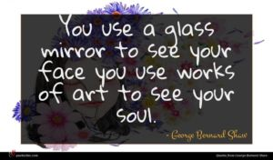 George Bernard Shaw quote : You use a glass ...