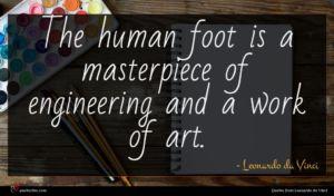Leonardo da Vinci quote : The human foot is ...