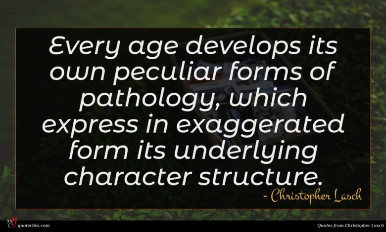 Every age develops its own peculiar forms of pathology, which express in exaggerated form its underlying character structure.