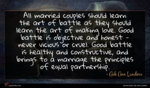 Ask Ann Landers quote : All married couples should ...