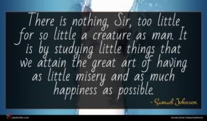 Samuel Johnson quote : There is nothing Sir ...