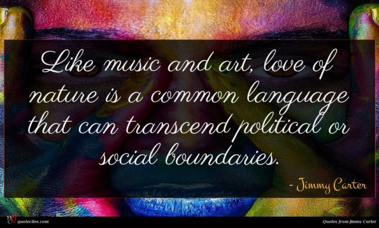 Like music and art, love of nature is a common language that can transcend political or social boundaries.