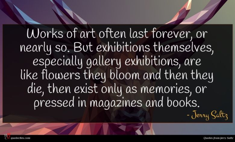 Photo of Jerry Saltz quote : Works of art often …