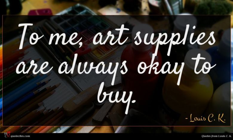 To me, art supplies are always okay to buy.