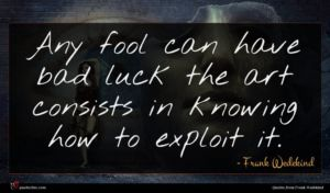 Frank Wedekind quote : Any fool can have ...