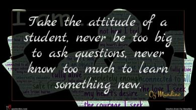 Photo of Og Mandino quote : Take the attitude of …