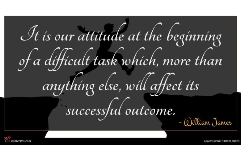 Photo of William James quote : It is our attitude …