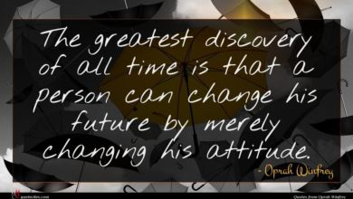 Photo of Oprah Winfrey quote : The greatest discovery of …