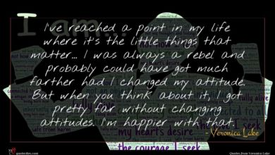 Photo of Veronica Lake quote : I've reached a point …