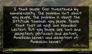 Hollis Stacy quote : I think people feel ...