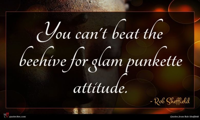 You can't beat the beehive for glam punkette attitude.