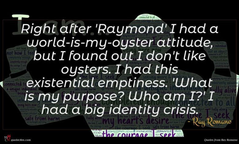 Photo of Ray Romano quote : Right after 'Raymond' I …