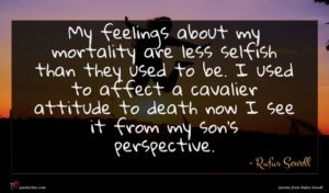 Rufus Sewell quote : My feelings about my ...