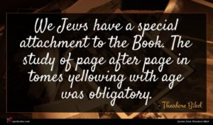 Theodore Bikel quote : We Jews have a ...