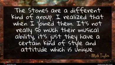 Photo of Mick Taylor quote : The Stones are a …